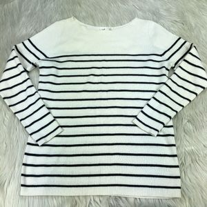 Gap Striped Boatneck Pull Over Sweater